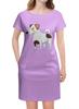 """Платье летнее """"ДЖЕК РАССЕЛ.СОБАКА"""" - майкл джексон, щенок, собака, животное, рассел"""