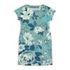 """Платье летнее """"Цветы. Акварель"""" - цветы, лист, роза, синий, акварель"""