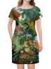 """Платье летнее """"Фрукты и цветы (Ян ван Хёйсум)"""" - картина, живопись, ян ван хёйсум"""