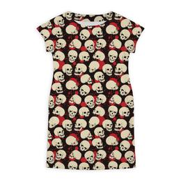 """Платье летнее """"Крупные черепа"""" - skull, череп, арт, черепа, skulls"""