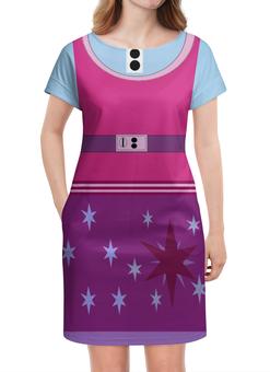 """Платье летнее """"Twilight sparkle целый знак отличия"""" - twilight sparkle, сумеречная искорка, знак отличия, гёрлз, эквестрия"""