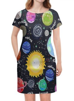 """Платье летнее """"Планеты"""" - галактика, созвездия, звезды, космос, планеты"""