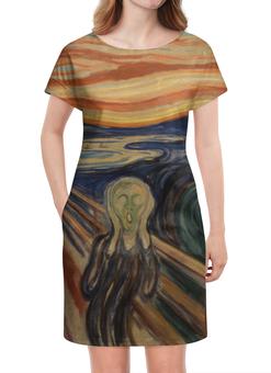 """Платье летнее """"Крик (картина Мунка)"""" - картина, мунк, живопись, мистика"""