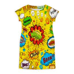 """Платье летнее """"Retro boom"""" - поп арт, надписи, boom, bang, pop art"""
