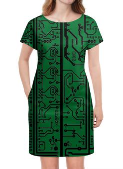 """Платье летнее """"Электроника"""" - электроника, наука, техника, дизайн"""