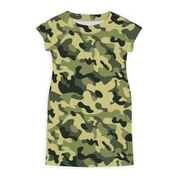 """Платье летнее """"ХАКИ ЗАЩИТА ДЛЯ ВОЕННЫХ ДЛЯ СЛУЖАЩИХ"""" - камуфляж, хаки, защита, военный, служба на границе"""