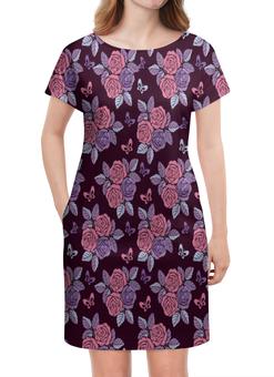 """Платье летнее """"Букеты роз"""" - бабочки, цветы, роза, розы, букет"""