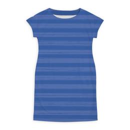 """Платье летнее """"В полоску"""" - полоска, голубой, рисунок, синий, неровный"""