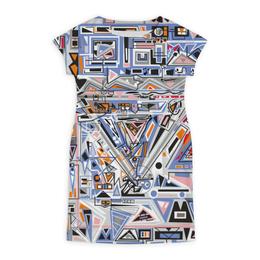 """Платье летнее """"Ташизм"""" - арт, узор, синий, абстракция, фигуры"""