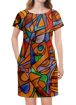 """Платье летнее """"W2W2`V61"""" - арт, узор, абстракция, фигуры, текстура"""