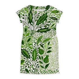 """Платье летнее """"Изумрудная листва"""" - узор, зелень, изумруд, листва"""