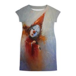 "Платье летнее ""Клоун"" - музыка, авторские майки, рисунок"