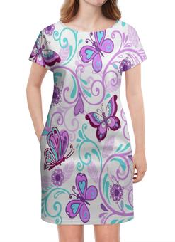 """Платье летнее """"Цветные бабочки"""" - бабочки, цветы, узор, весна, природа"""