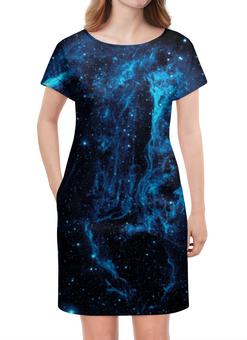 """Платье летнее """"Галактическое путешествие"""" - космос, space, вселенная, звезды, туманность"""