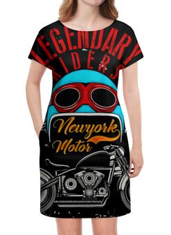"""Платье летнее """"Legendary riders"""" - мотоцикл, скорость, гонщик, транспорт, крылья"""