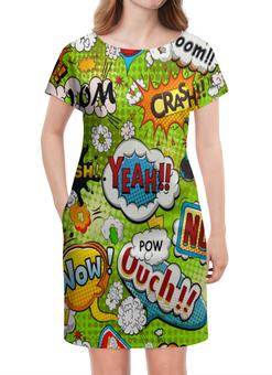 """Платье летнее """"Поп Арт"""" - поп арт, надписи, boom, bang, crash"""