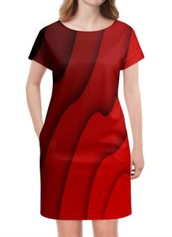 """Платье летнее """"Красные волны"""" - красный, полосы, волны, текстура, линии"""