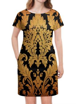 """Платье летнее """"Желтые листья"""" - цветы, узор, листья, желтый, роспись"""