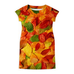 """Платье летнее """"Осенняя листва"""" - листья, осень, дизайн, ярко, природа"""
