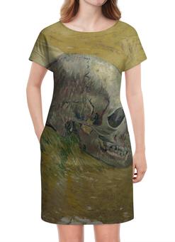 "Платье летнее ""Череп (Винсент ван Гог)"" - картина, ван гог, живопись"