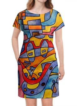"""Платье летнее """"MX0`]MM02Y"""" - арт, узор, абстракция, фигуры, текстура"""