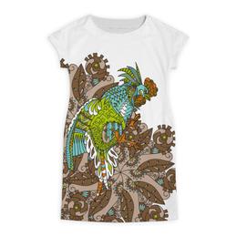 """Платье летнее """"петушиное разноцветие"""" - узор, птица, символ года, злой, петух"""