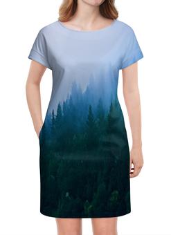 """Платье летнее """"Лесной пейзаж"""" - лес, природа, вода, пейзаж, туман"""