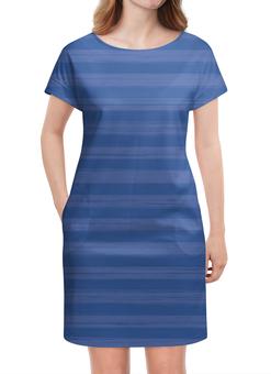 """Платье летнее """"В полоску"""" - полоска, синий, голубой, неровный, рисунок"""