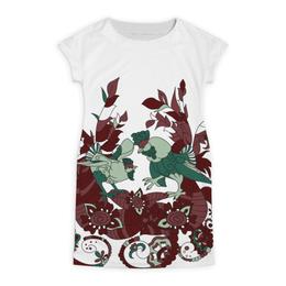 """Платье летнее """"петушиное разноцветие"""" - узор, символ года, абстрактный, петух, петухи"""
