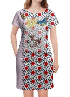 """Платье летнее """"Не забывайте летать! Вариант №160808b"""" - vintage, to fly, butterfly, бабочки, орнамент"""