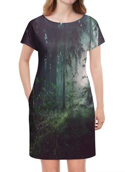 """Платье летнее """"Природа леса"""" - лес, деревья, природа, пейзаж, трава"""