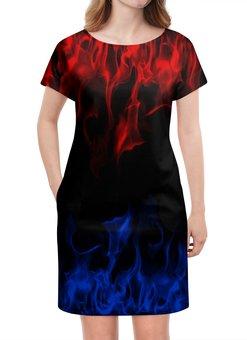 """Платье летнее """"Огонь"""" - огненный, пожар, краски, пламя, огонь"""