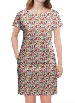 """Платье летнее """"Пейсли (Яркий)"""" - цветы, цветок, лепестки, лепесток, пейсли"""