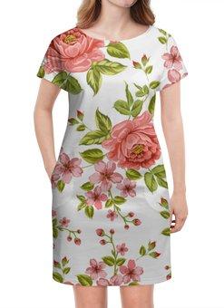 """Платье летнее """"Цветы"""" - цветы, розы"""