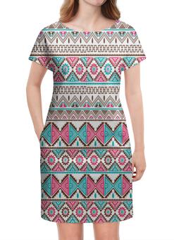 """Платье летнее """"Графика"""" - треугольники, абстракция, графика, узор, ромбы"""
