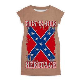 """Платье летнее """"Флаг Конфедерации США"""" - война, америка, флаг, сша, флаг конфедерации"""