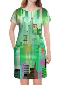 """Платье летнее """"Здания"""" - город, здания, мегаполис, пейзаж, графика"""