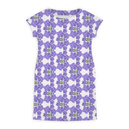 """Платье летнее """"Фиалки"""" - цветы, фиолетовый, акварель, паттерн, фиалка"""