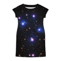"""Платье летнее """"Космос (space)"""" - space, звезды, космос, вселенная, галактика"""