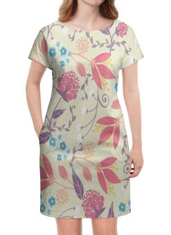 """Платье летнее """"Весенние цветочки"""" - цветы, узор, листья, весна, цветочки"""