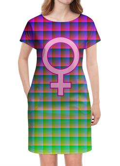 """Платье летнее """"Female Pink"""" - символ, знак, логотип, лого, logo"""