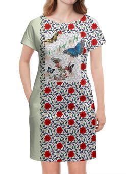 """Платье летнее """"Не забывайте летать! Вариант №160808b"""" - бабочки, орнамент, butterfly, vintage, to fly"""