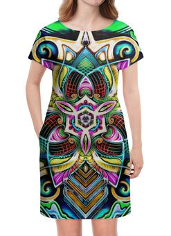"Платье летнее ""Mandala HD 4"" - узор, ретро, классика, этно, симметрия"