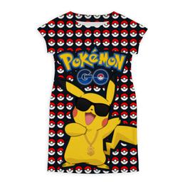 "Платье летнее ""Pokemon GO"" - игра, покемон, пикачу, доллар, pikachu"