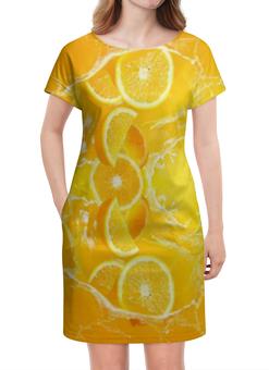 """Платье летнее """"Апельсиновый фреш"""" - арт, природа, фрукты, рисунок, абстракция"""