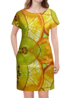 """Платье летнее """"Тропическое наслаждение"""" - арт, фрукты, дизайн, природа, иллюстрация"""