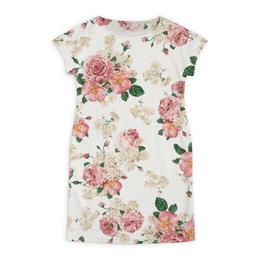 """Платье летнее """"Цветочный принт"""" - цветок, лист, роза, шиповник, бутон"""