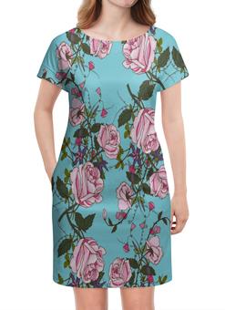 """Платье летнее """"Розы в цвету"""" - цветы, розы, природа, весна, сад"""