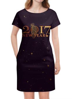 """Платье летнее """"Новый год 2017"""" - подарок, символ года, петух, год петуха, rooster"""