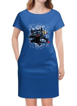 """Платье летнее """"Lilo & Stich (Stich)"""" - дисней, лило и стич, стич, инопланетянин, пришелец"""